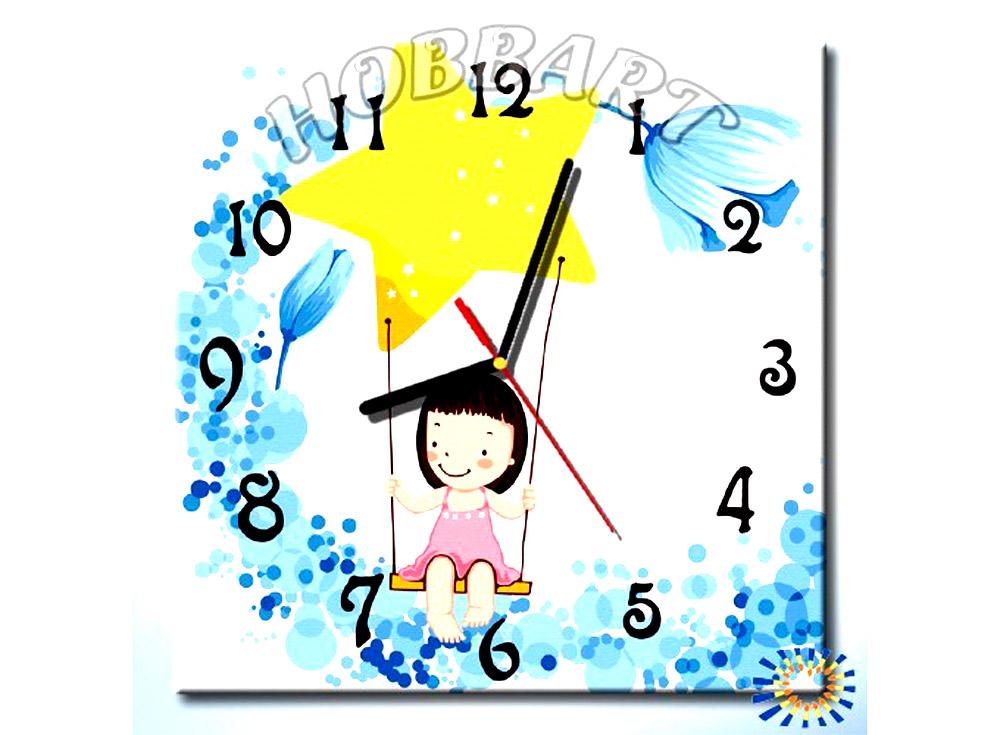 Раскраска-часы «Верхом на звезде»Часы-раскраски по номерам<br><br><br>Артикул: SH3030002<br>Основа: Холст<br>Размер: 30x30 см