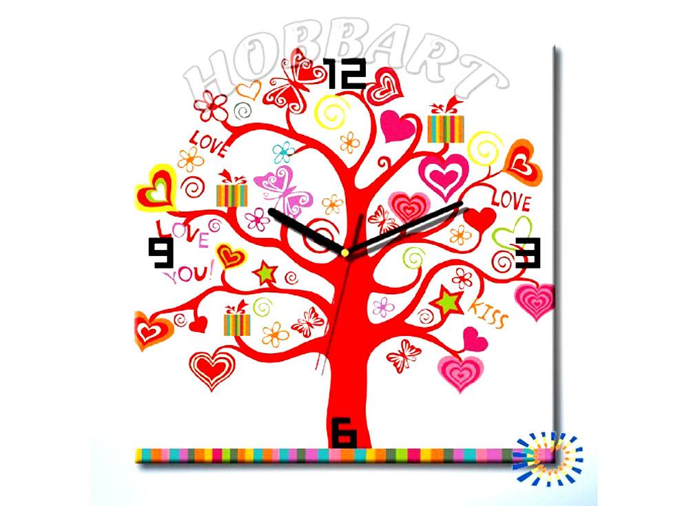 Раскраска-часы «Дерево любви»