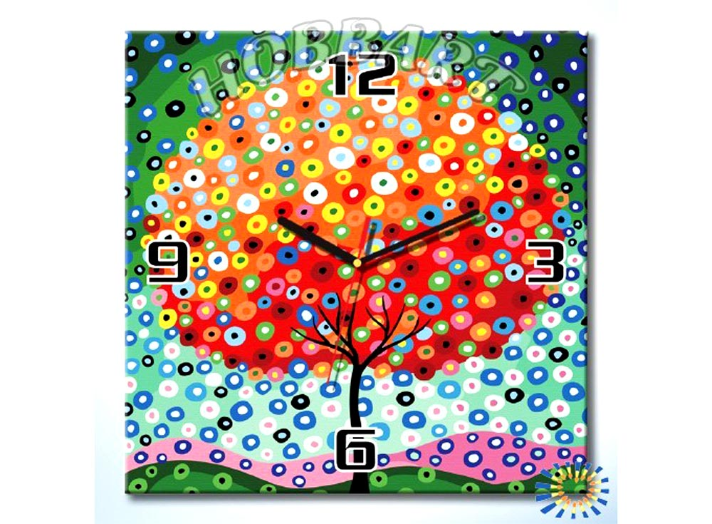 Раскраска-часы «Денежное дерево»