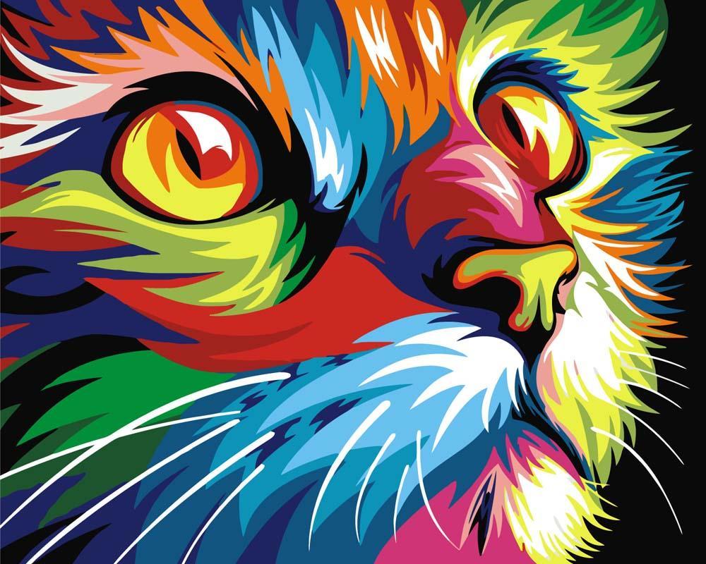 Алмазная вышивка «Радужный кот» Ваю РомдониАлмазная вышивка Гранни<br><br><br>Артикул: AG478<br>Основа: Холст без подрамника<br>Сложность: средние<br>Размер: 27x38 см<br>Выкладка: Полная<br>Количество цветов: 26<br>Тип страз: Квадратные