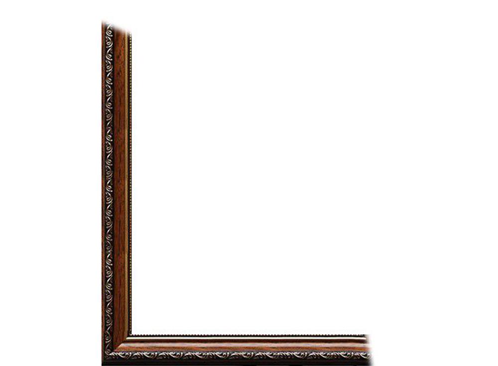Рамка без стекла для картин «Dorothy»Багетные рамки<br>Для картин на подрамнике на холсте, на картоне, для алмазной вышивки. В комплект входит: рамка, задняя подложка, крючок-вешалка. Стекло в комплект не входит. При необходимости приобретайте стекло отдельно.<br><br>Артикул: 0023-16-1155<br>Размер: 40x50 см<br>Цвет: Коричневый<br>Ширина: 34<br>Материал багета: Пластик<br>Глубина багета: 8 мм