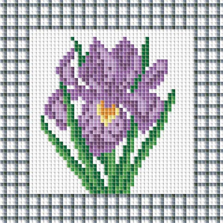 Алмазная вышивка «Фиолетовый ирис»Алмазная вышивка<br><br>