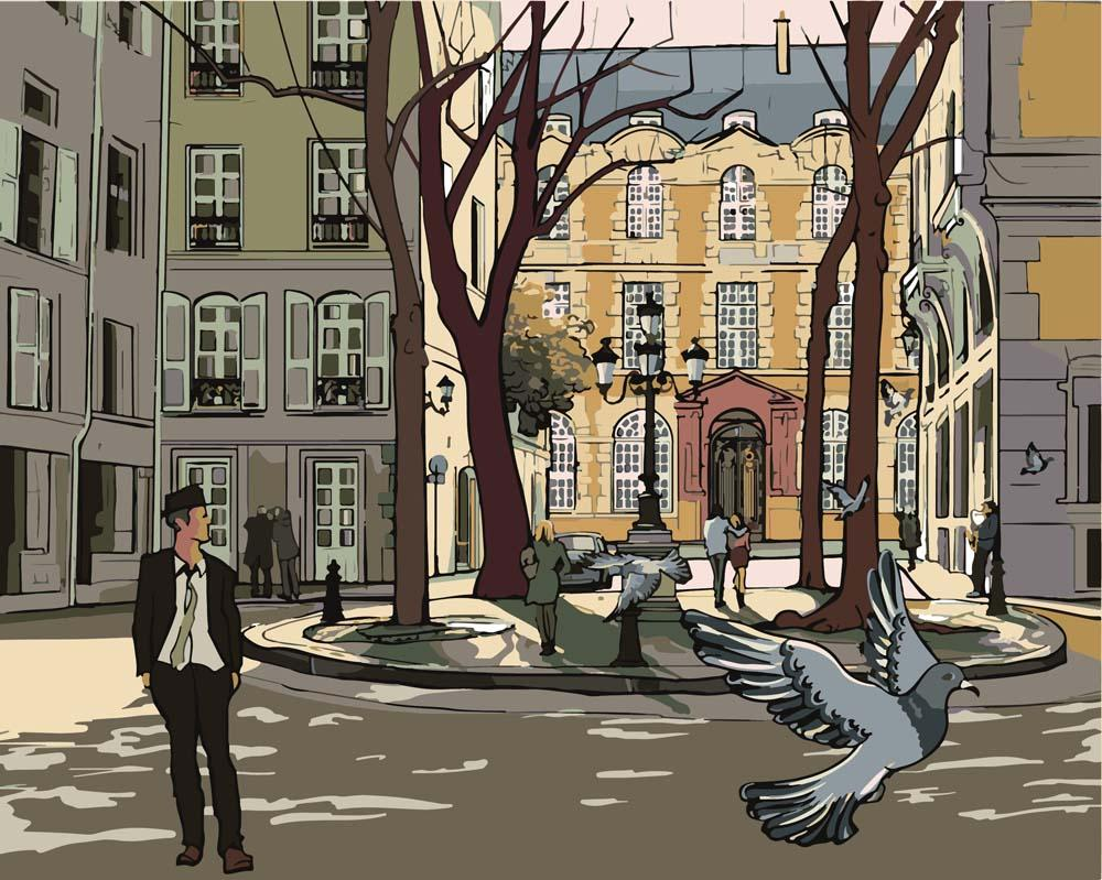 """Картина по номерам «Улица в Париже»Артвентура<br>Картины по номерам """"Артвентура"""" - это высокое качество составляющих от холста до оригинальной упаковки.<br>Отличие наборов этого бренда от других производителей заключается в том, что:<br>- Каждая схема разработана с ювелирной точностью.<br>- Для удобства кажды...<br><br>Артикул: 03ART40500039<br>Основа: Цветной холст<br>Сложность: сложные<br>Размер: 40x50 см<br>Количество цветов: 24<br>Техника рисования: Без смешивания красок"""