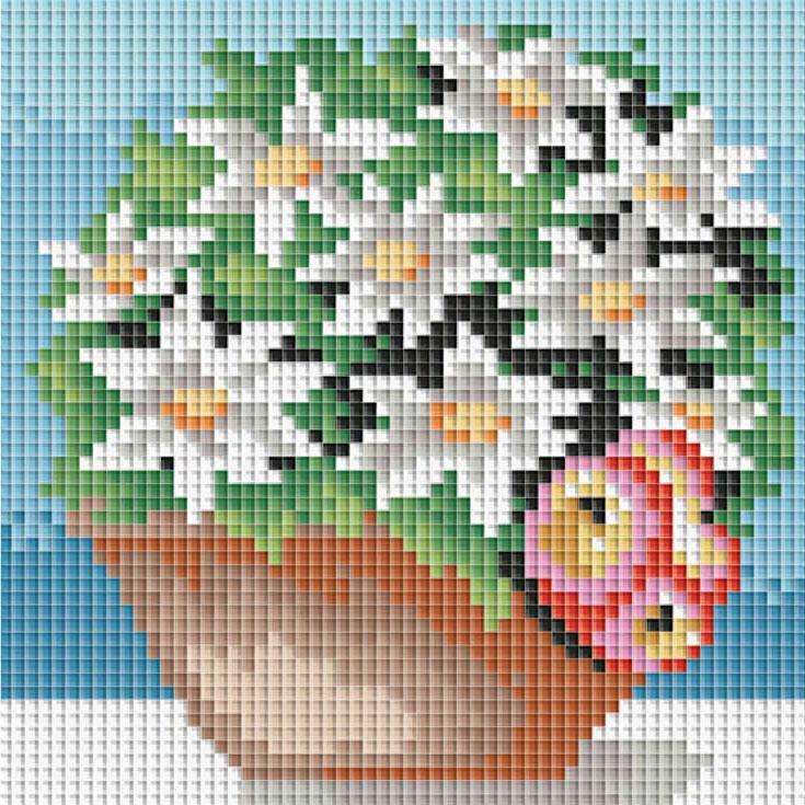 Стразы «Комнатные цветы»Алмазная вышивка фирмы Белоснежка<br><br><br>Артикул: 064-ST<br>Основа: Холст без подрамника<br>Сложность: сложные<br>Размер: 15x15 см<br>Выкладка: Полная<br>Количество цветов: 20<br>Тип страз: Квадратные