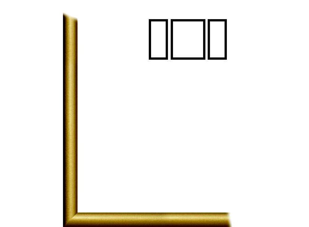 Ламинированная тонкая рамка без стекла «Парма» для триптиховБагетные рамки<br>Итальянский ламинированный деревянный багет для картин на картоне. В комплект входит: рамка, задняя подложка, крючок-подвес. Стекло в комплект не входит. При необходимости приобретайте стекло отдельно.<br><br>Артикул: 110-05-8050Т<br>Размер: 50x80 см<br>Цвет: Золото<br>Ширина: 10<br>Материал багета: Дерево<br>Глубина багета: 1 см