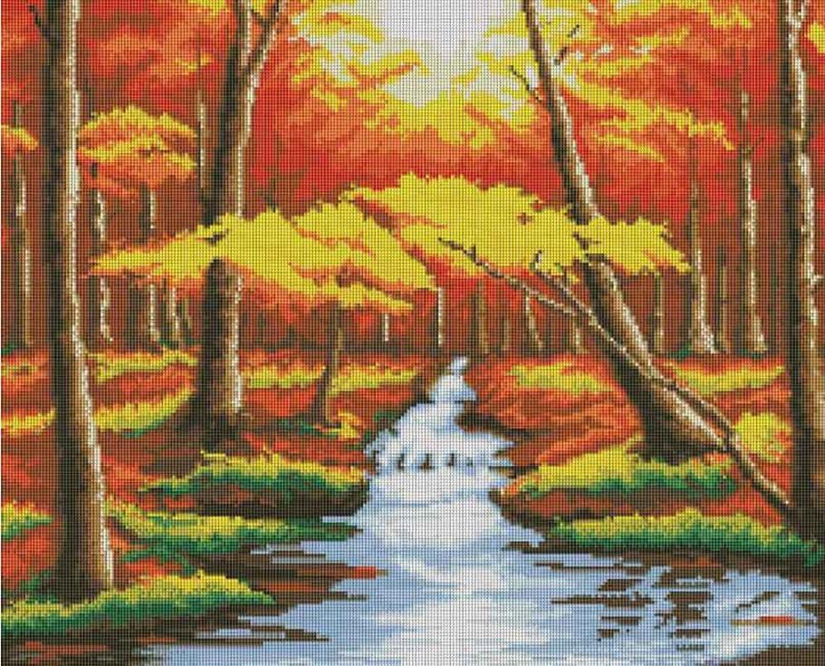 Стразы «Оранжевый лес»Алмазная вышивка фирмы Белоснежка<br><br><br>Артикул: 146-ST<br>Основа: Холст без подрамника<br>Сложность: сложные<br>Размер: 66x53 см<br>Выкладка: Полная<br>Количество цветов: 43<br>Тип страз: Квадратные