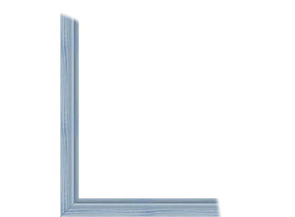 Ламинированная рамка без стекла «Агафья»Багетные рамки<br>Для картин на картоне. В комплект входит: рамка, задняя подложка, крючок-вешалка. Стекло в комплект не входит. При необходимости приобретайте стекло отдельно.<br><br>Артикул: 216-01-4050<br>Размер: 40x50 см<br>Цвет: Голубой<br>Ширина: 21<br>Материал багета: Дерево<br>Глубина багета: 8 мм