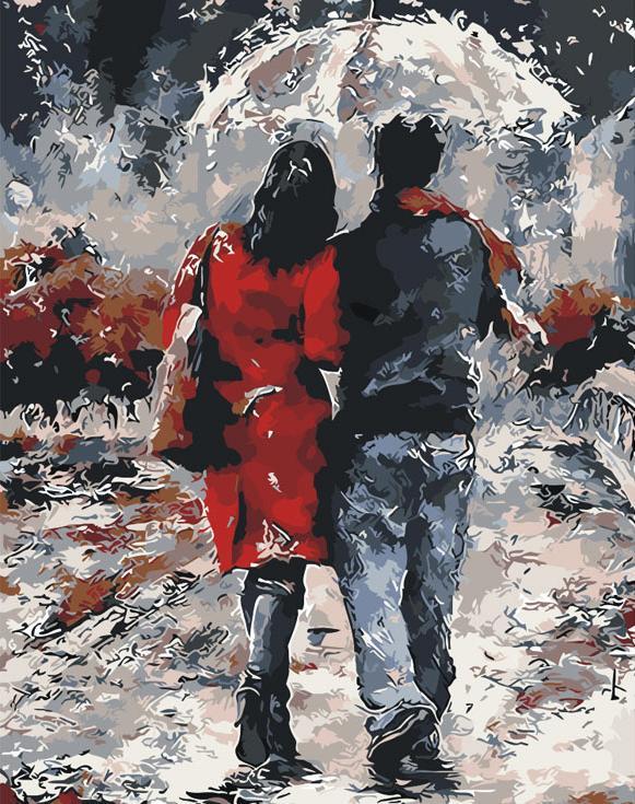 Картина по номерам «Влюбленные под дождем» Эмерико ТотаРаскраски по номерам Paintboy (Original)<br><br><br>Артикул: Gx8433_R<br>Основа: Холст<br>Сложность: средние<br>Размер: 40x50 см<br>Количество цветов: 20<br>Техника рисования: Без смешивания красок