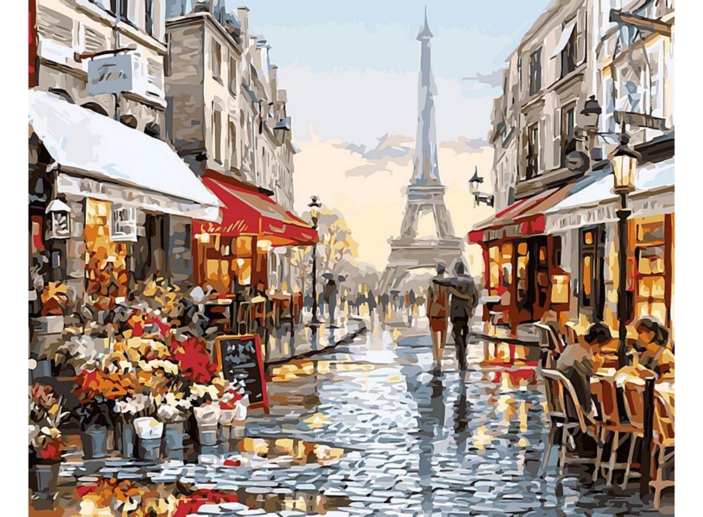 «Парижское обещание» Ричарда МакнейлаЦветной (Standart)<br><br><br>Артикул: GX8090_Z<br>Основа: Холст<br>Сложность: средние<br>Размер: 40x50 см<br>Количество цветов: 25<br>Техника рисования: Без смешивания красок