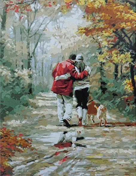 «Пара на прогулке» Ричарда МакнейлаPaintboy (Premium)<br><br><br>Артикул: Gx8440<br>Основа: Холст<br>Сложность: средние<br>Размер: 40x50<br>Количество цветов: 26<br>Техника рисования: Без смешивания красок