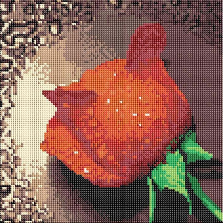 Стразы «Красная роза»Алмазная вышивка фирмы Белоснежка<br><br><br>Артикул: 006-RS-R<br>Основа: Холст на подрамнике<br>Размер: 30x30 см<br>Выкладка: Полная<br>Тип страз: Круглые прозрачные (стеклянные)