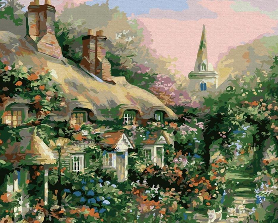 Картина по номерам «Летний дом» Джима МитчеллаРаскраски по номерам<br><br>