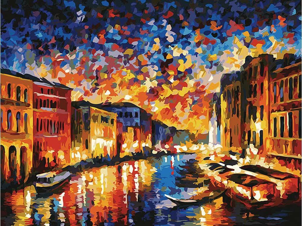 Картина по номерам «Гранд-Канал Венеция» Леонида АфремоваКартины по номерам Белоснежка<br><br><br>Артикул: 024-AS<br>Основа: Холст<br>Сложность: очень сложные<br>Размер: 30x40 см<br>Количество цветов: 29<br>Техника рисования: Без смешивания красок
