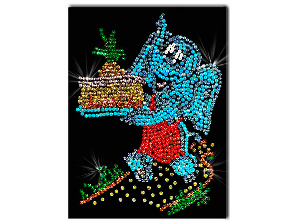 Мозаика из пайеток «Слоненок»Мозаика из пайеток<br>Набор мозаики из пайеток содержит все, что нужно для творческого процесса:<br> - основу-планшет из пенопласта;<br><br>- фон с точечной разметкой расположения паейток по цветам;<br><br>- разноцветные пайетки;<br><br>- специальные гвоздики-булавочки;<br><br>- рамку из пенопл...<br><br>Артикул: 026<br>Основа: Планшет из пенопласта<br>Размер: 27x36 см<br>Возраст: от 8 лет