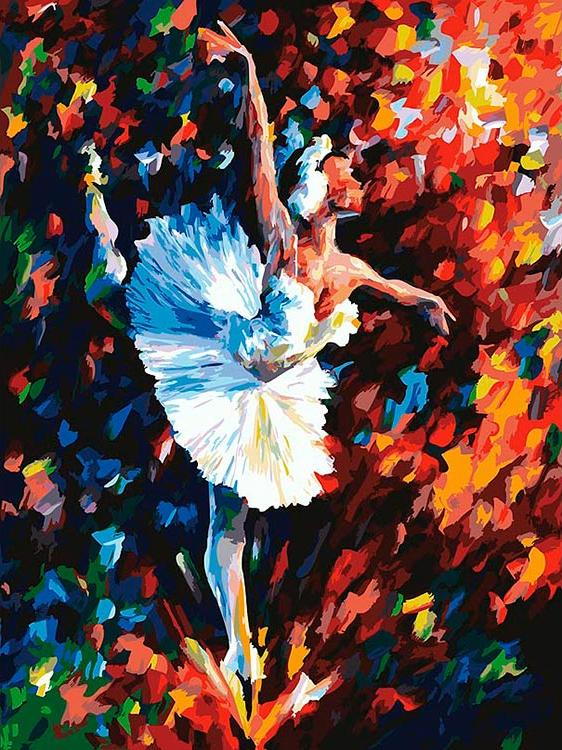 «Танец души» Леонида АфремоваКартины по номерам Белоснежка<br><br><br>Артикул: 031-AS<br>Основа: Холст<br>Сложность: очень сложные<br>Размер: 30x40 см<br>Количество цветов: 29<br>Техника рисовани: Без смешивани красок