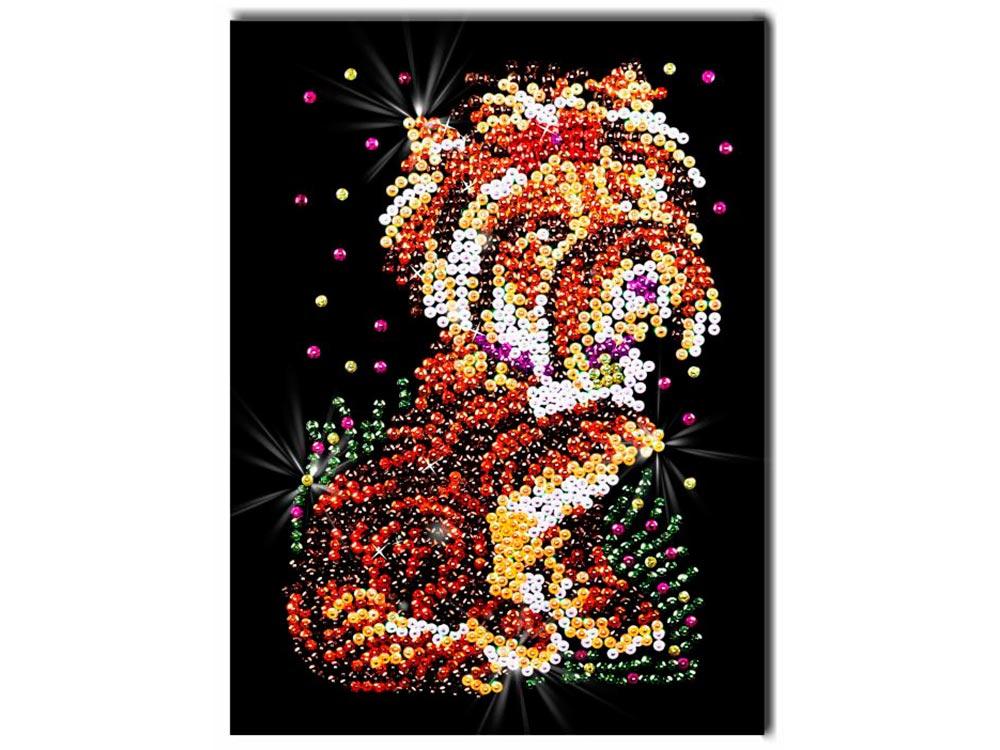 Мозаика из пайеток «Терьер»Мозаика из пайеток<br>Набор мозаики из пайеток содержит все, что нужно для творческого процесса:<br> - основу-планшет из пенопласта;<br> <br>- фон с точечной разметкой расположения пайеток по цветам;<br> <br>- разноцветные пайетки;<br> <br>- специальные гвоздики-булавочки;<br> <br>- рамку из пе...<br><br>Артикул: 032<br>Основа: Планшет из пенопласта<br>Размер: 27x36 см<br>Количество цветов: 8<br>Возраст: от 8 лет