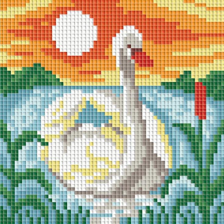 Стразы «Белый лебедь»Алмазная вышивка фирмы Белоснежка<br><br><br>Артикул: 066-ST-PS<br>Основа: Холст без подрамника<br>Размер: 15x15 см<br>Выкладка: Полная<br>Тип страз: Квадратные