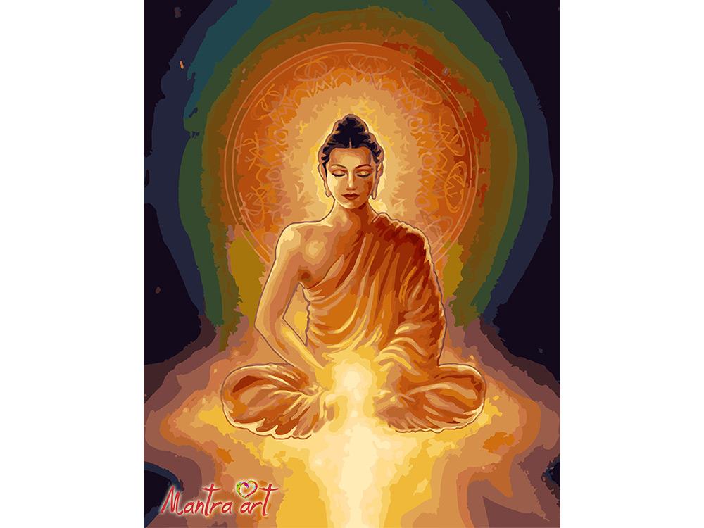 Купить Картина по номерам «Будда просветление»+в наборе подарок, Mantra Art, Россия