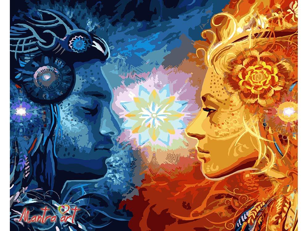 Купить Картина по номерам «Единение»+в наборе подарок, Mantra Art, Россия
