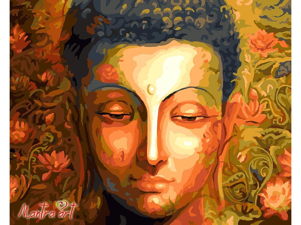 Купить Картина по номерам «Будда»+в наборе подарок, Mantra Art, Россия