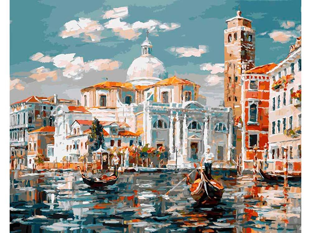 «Венеция. Церковь Сан Джеремия»Картины по номерам Белоснежка<br><br><br>Артикул: 126-AB<br>Основа: Холст<br>Сложность: очень сложные<br>Размер: 40x50<br>Количество цветов: 38<br>Техника рисования: Без смешивания красок
