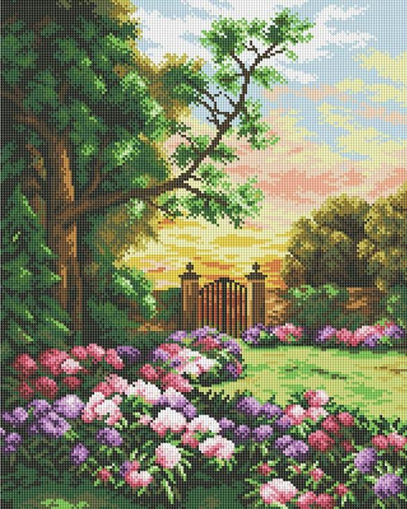 Стразы «Сад цветов»Алмазная вышивка фирмы Белоснежка<br><br><br>Артикул: 190-ST-S<br>Основа: Холст на подрамнике<br>Размер: 40x50 см<br>Выкладка: Полная<br>Тип страз: Квадратные