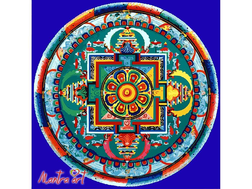 Картина по номерам «Мандала Авалокитешвара»+в наборе подарокРаскраски по номерам Mantra Art<br>Производитель Mantra Art создал уникальные наборы картин по номерам, которые порадуют и безупречным качеством, и помогут погрузиться в тонкий внутренний мир. С их помощью легко избавиться от негатива - неизбежного побочного эффекта стрессовых ситуаций, и ...<br><br>Артикул: 2003<br>Основа: Холст<br>Сложность: очень сложные<br>Размер: 40x40 см<br>Количество цветов: 21<br>Техника рисования: Без смешивания красок