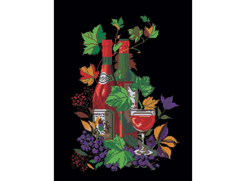 Стразы «Натюрморт с вином»Алмазная вышивка фирмы Белоснежка<br><br><br>Артикул: 202-RS<br>Основа: Холст без подрамника<br>Размер: 52x68<br>Выкладка: Частичная<br>Тип страз: Круглые прозрачные (стеклянные)