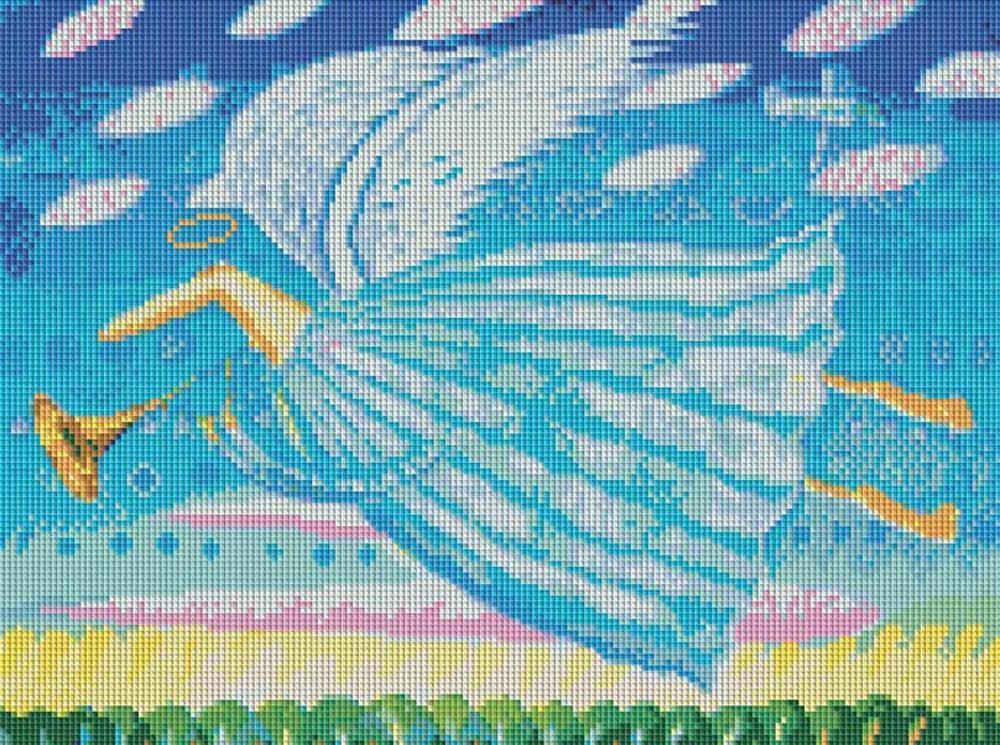 Алмазная вышивка «Ангел» Романа УрбинскогоАлмазная вышивка фирмы Белоснежка<br><br><br>Артикул: 243-ST<br>Основа: Холст без подрамника<br>Размер: 43x32 см<br>Выкладка: Полная<br>Тип страз: Квадратные