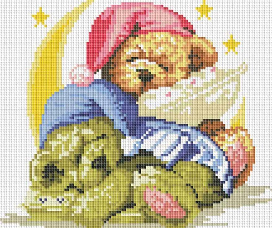 Стразы «Два медвежонка»Алмазная вышивка фирмы Белоснежка<br><br><br>Артикул: 250-ST-S<br>Основа: Холст на подрамнике<br>Размер: 30x30 см<br>Выкладка: Полная<br>Количество цветов: 19<br>Тип страз: Квадратные