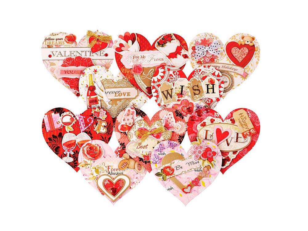 Набор из 10-ти открыток «Влюбленные»Наборы для создания открыток<br>Комплектация набора для создания 10-ти открыток Влюблённые:<br><br>-заготовки для открыток<br> -цветные конверты<br> -клеевые подушечки<br> -декоративные бумажные элементы<br> -ленты, пайетки, стразы.<br><br>Артикул: 260-SB