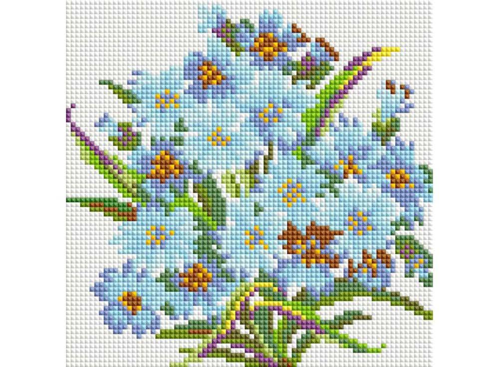 Стразы «Букет Нежность»Алмазная вышивка фирмы Белоснежка<br><br><br>Артикул: 278-ST-S<br>Основа: Холст на подрамнике<br>Размер: 20x20<br>Выкладка: Полная<br>Количество цветов: 15<br>Тип страз: Квадратные