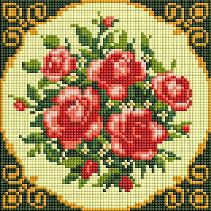 Алмазная вышивка «Чайные розы»Алмазная вышивка фирмы Белоснежка<br><br>