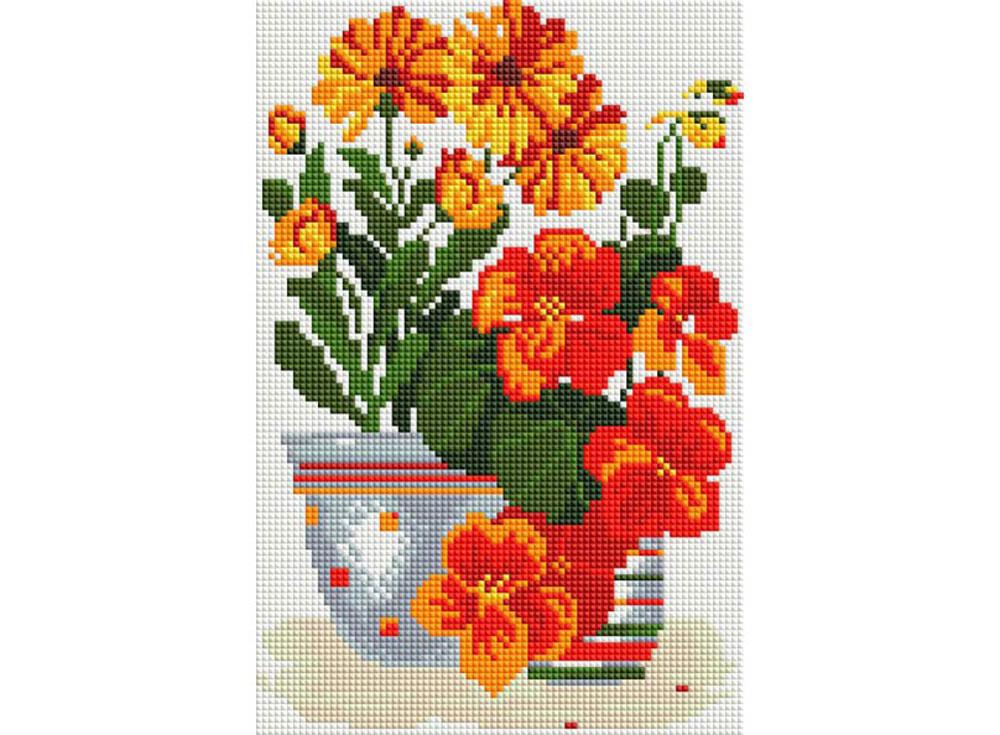 Стразы «Комнатные цветы»Алмазная вышивка фирмы Белоснежка<br><br><br>Артикул: 315-ST-S<br>Основа: Холст на подрамнике<br>Размер: 20x30<br>Выкладка: Полная<br>Количество цветов: 13<br>Тип страз: Квадратные