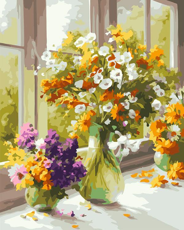 «Солнечный день» Хайнца ШольнхаммераКартины по номерам Белоснежка<br><br><br>Артикул: 503-CG<br>Основа: Холст<br>Сложность: средние<br>Размер: 40x50 см<br>Количество цветов: 24<br>Техника рисования: Без смешивания красок
