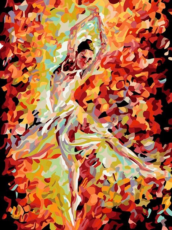 «Балерина» Леонида АфремоваКартины по номерам Белоснежка<br><br><br>Артикул: 711-AS<br>Основа: Холст<br>Сложность: средние<br>Размер: 30x40 см<br>Количество цветов: 25<br>Техника рисования: Без смешивания красок