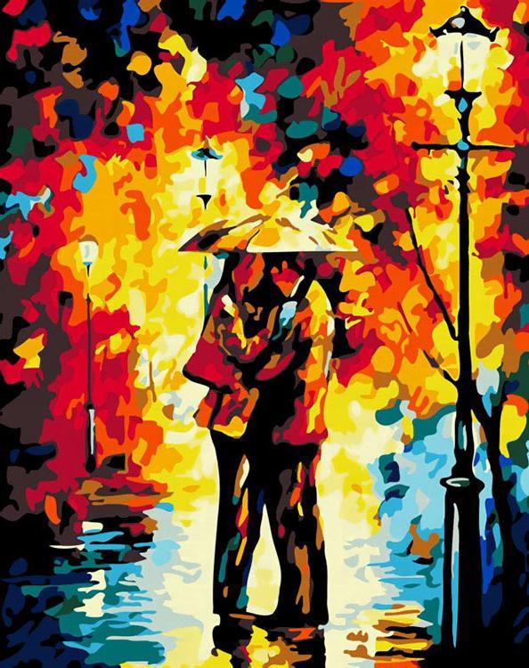 Картина по номерам «Осеннее свидание» Леонида АфремоваРаскраски по номерам<br><br>