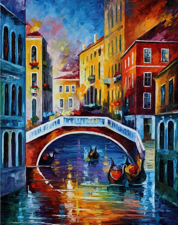 Алмазная вышивка «Венецианский мост» Леонида АфремоваАлмазная вышивка Гранни<br><br><br>Артикул: AG641<br>Основа: Холст без подрамника<br>Сложность: средние<br>Размер: 38x48 см<br>Выкладка: Полная<br>Количество цветов: 39<br>Тип страз: Квадратные