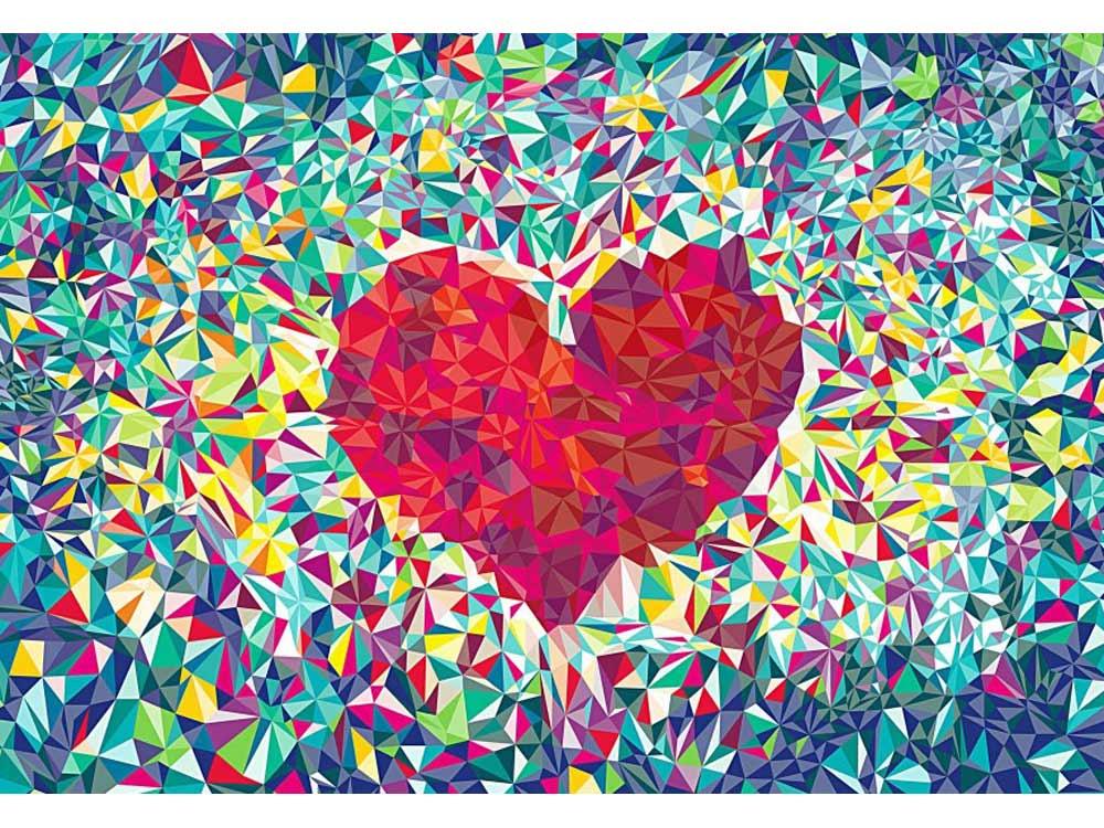Стразы «Сердце»Алмазная вышивка Гранни<br><br><br>Артикул: AGMT006<br>Основа: Холст без подрамника<br>Сложность: средние<br>Размер: 13x18<br>Выкладка: Полная<br>Количество цветов: 16<br>Тип страз: Квадратные