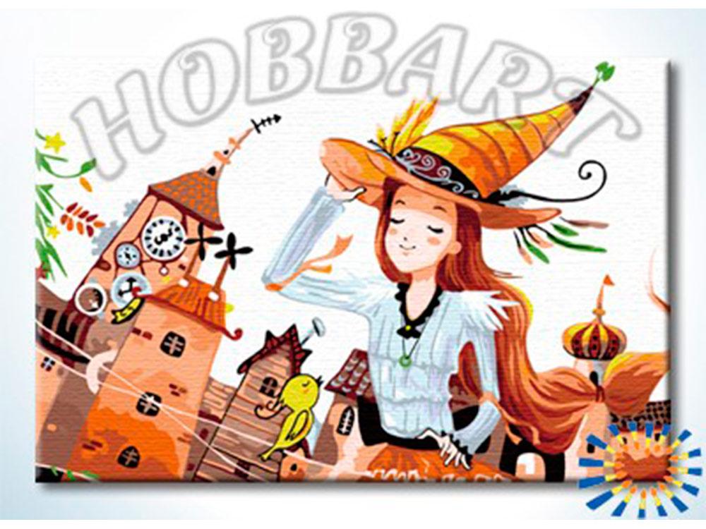 «Маленька колдунь»Hobbart<br><br><br>Артикул: HB2030015<br>Основа: Холст<br>Сложность: средние<br>Размер: 20x30 см<br>Количество цветов: 20<br>Техника рисовани: Без смешивани красок