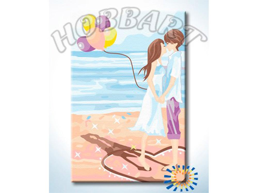 «Поцелуй на пляже»Hobbart<br><br><br>Артикул: HB2030032<br>Основа: Холст<br>Сложность: легкие<br>Размер: 20x30 см<br>Количество цветов: 17<br>Техника рисования: Без смешивания красок
