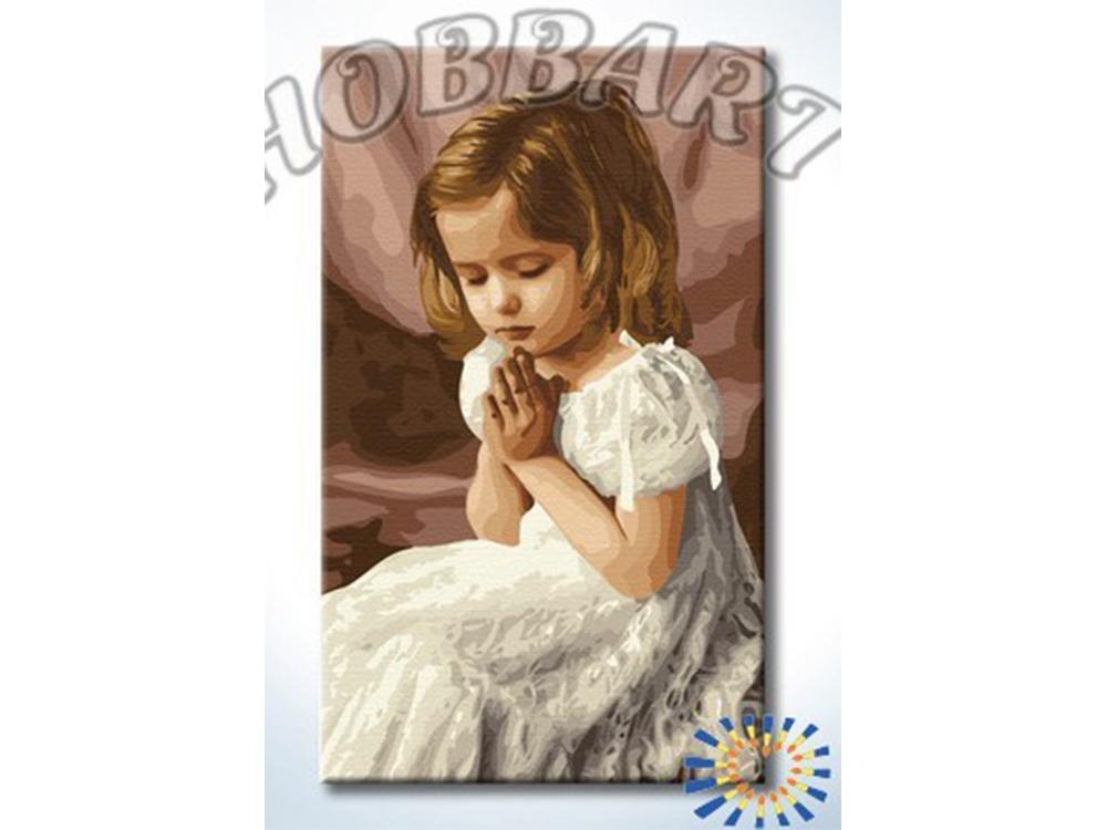 «Молитва»Hobbart<br><br><br>Артикул: HB3050002<br>Основа: Холст<br>Сложность: очень сложные<br>Размер: 30x50 см<br>Количество цветов: 28<br>Техника рисования: Без смешивания красок