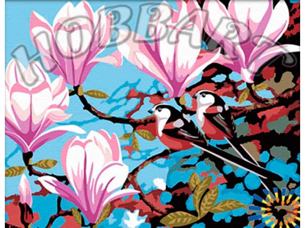 «Розовые магнолии»Hobbart<br><br><br>Артикул: HB4050002<br>Основа: Холст<br>Сложность: сложные<br>Размер: 40x50 см<br>Количество цветов: 19<br>Техника рисования: Без смешивания красок