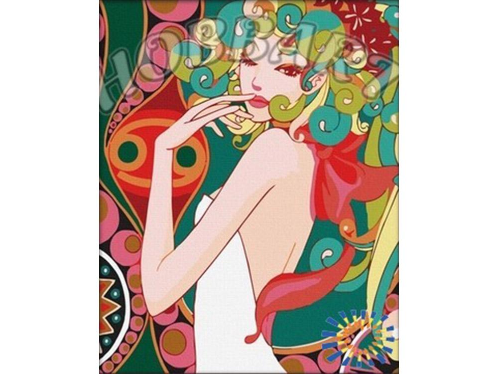 Картина по номерам «Кокетка»Hobbart<br><br><br>Артикул: HB4050012<br>Основа: Холст<br>Сложность: сложные<br>Размер: 40x50 см<br>Количество цветов: 25<br>Техника рисования: Без смешивания красок
