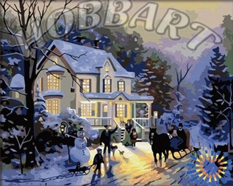 Картина по номерам «В предвкушении праздника» Томаса КинкейдаРаскраски по номерам<br><br>