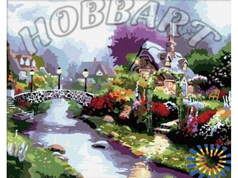 «Цветущий городок» Томаса КинкейдаHobbart<br><br><br>Артикул: HB4050048<br>Основа: Холст<br>Сложность: сложные<br>Размер: 40x50 см<br>Количество цветов: 25<br>Техника рисования: Без смешивания красок