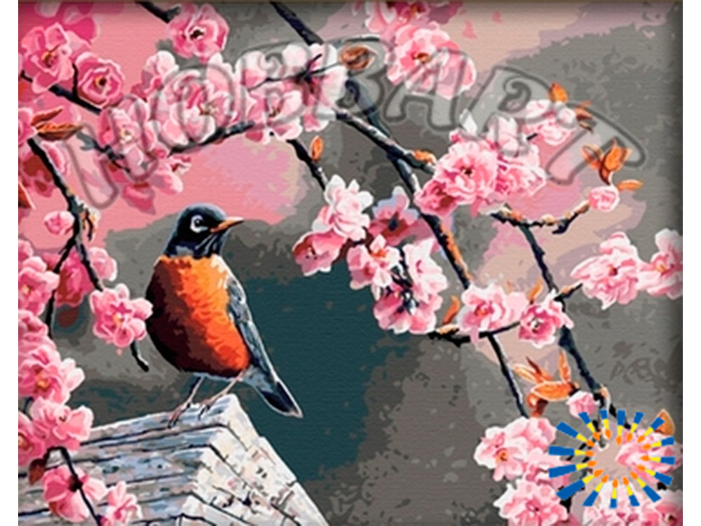 «По весне» Сьюзен БордетHobbart<br><br><br>Артикул: HB4050053<br>Основа: Холст<br>Сложность: очень сложные<br>Размер: 40x50<br>Количество цветов: 30<br>Техника рисования: Без смешивания красок