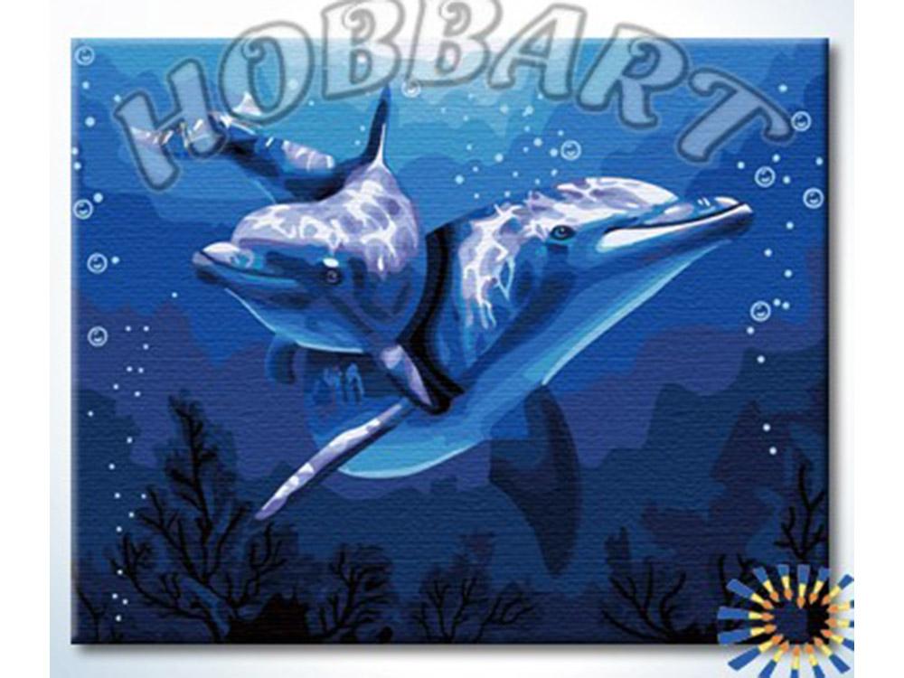 Картина по номерам «Подводный мир»Hobbart<br><br><br>Артикул: HB4050055<br>Основа: Холст<br>Сложность: сложные<br>Размер: 40x50 см<br>Количество цветов: 25<br>Техника рисования: Без смешивания красок