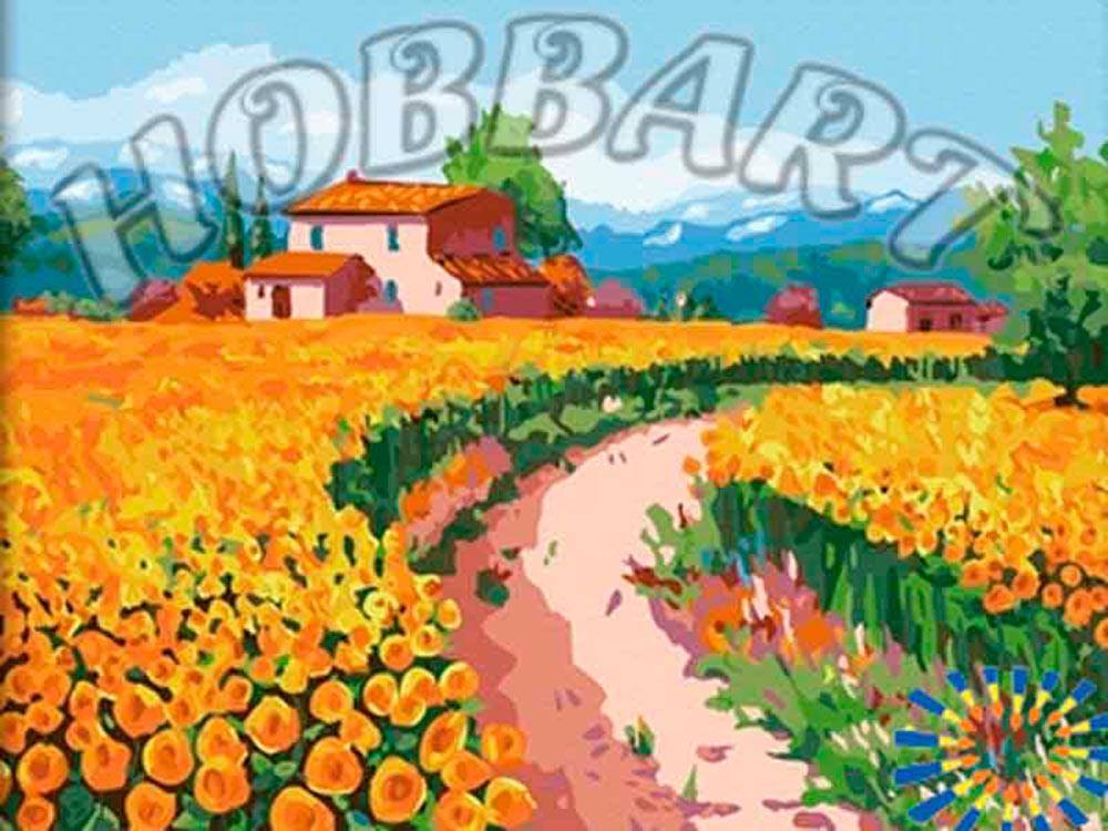 Картина по номерам «Цветочное поле»Hobbart<br><br><br>Артикул: HB4050057<br>Основа: Холст<br>Сложность: очень сложные<br>Размер: 40x50 см<br>Количество цветов: 29<br>Техника рисования: Без смешивания красок