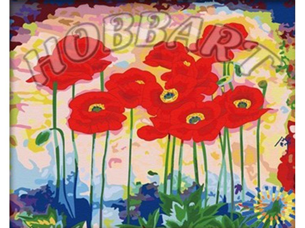 «Маковое раздолье»Hobbart<br><br><br>Артикул: HB4050059<br>Основа: Холст<br>Сложность: сложные<br>Размер: 40x50<br>Количество цветов: 25<br>Техника рисования: Без смешивания красок
